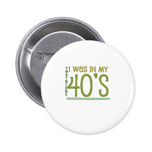 """Lindo, """"ayer"""" 50.o cumpleaños pin"""