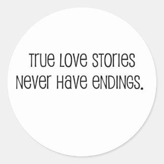 "Lindo, cita de la boda de las ""historias de amor pegatina redonda"