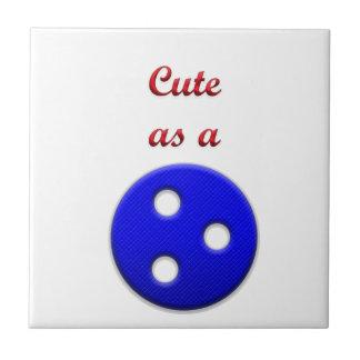 Lindo como botón azulejo cuadrado pequeño