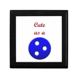 Lindo como botón joyero cuadrado pequeño