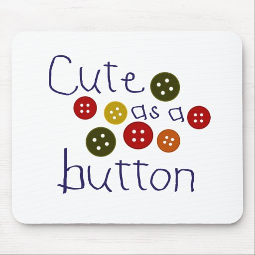 Lindo como botón (muchacho) tapetes de ratón
