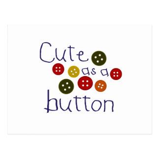 Lindo como botón (muchacho) tarjeta postal