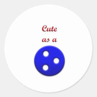 Lindo como botón pegatina redonda