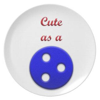 Lindo como botón platos para fiestas