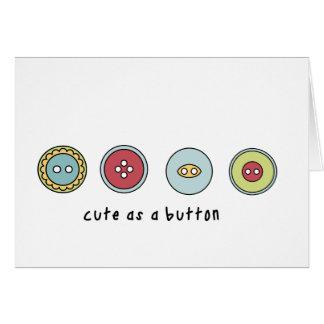 lindo como botón tarjeta de felicitación