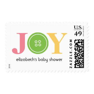 Lindo como botón (verde) sello postal