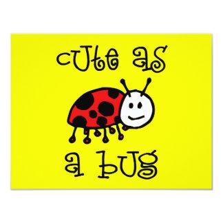 Lindo como insecto invitación 10,8 x 13,9 cm