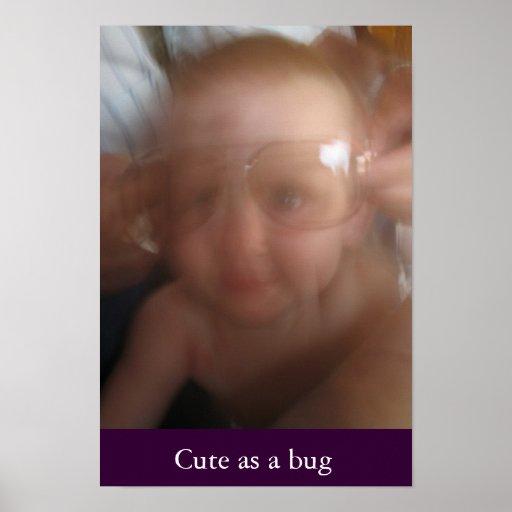 Lindo como insecto poster