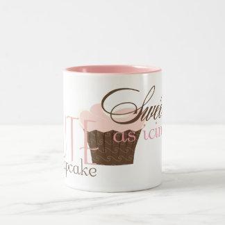 ¡Lindo como magdalena Rosa y Brown Tazas De Café