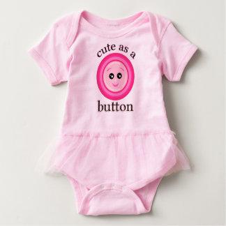 Lindo como mono del tutú del bebé del botón body para bebé