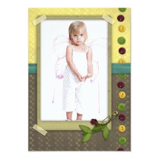 lindo como saludo del regalo del marco de la foto invitación 12,7 x 17,8 cm