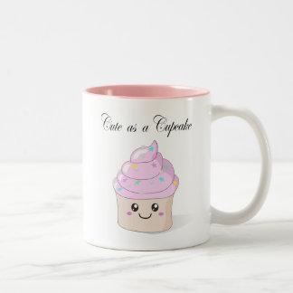 Lindo como taza del kawaii de la magdalena