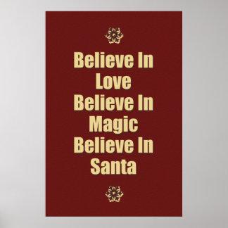 Lindo crea en la cita de Santa Posters