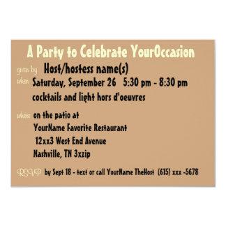 """Lindo cualquier fiesta de la ocasión invitación 4.5"""" x 6.25"""""""