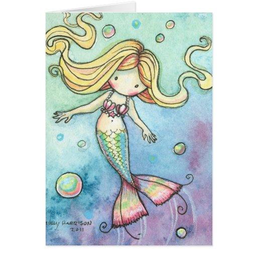 ~ lindo de la tarjeta de la sirena caprichoso y du
