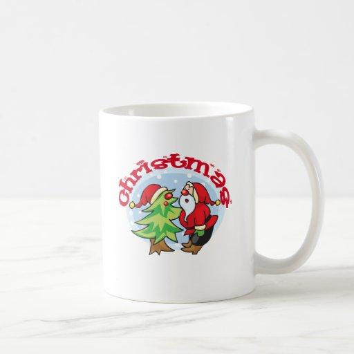 """Lindo, """"diseño de Santa del navidad"""" Taza"""