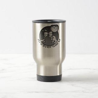 """Lindo, diseño del """"10mo aniversario"""" tazas"""