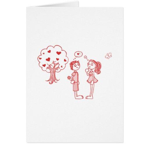 """Lindo, """"diseño del dibujo del amor"""" felicitación"""