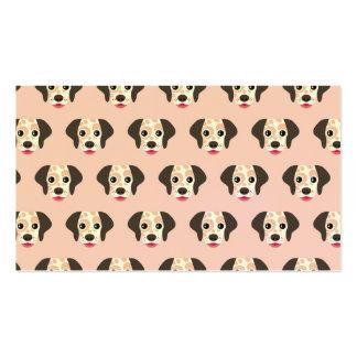 Lindo, diversión, cabezas de perro, rosa, blanco, tarjetas de visita