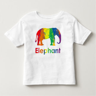 Lindo, diversión, y arco iris colorido Elelphant Playera De Bebé