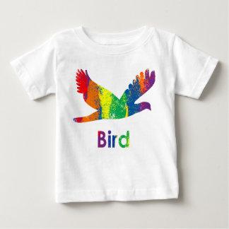 Lindo, diversión y pájaro colorido del arco iris playeras