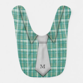 Lindo divertido del lazo de la camisa del muchacho babero