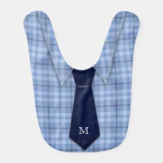 Lindo divertido del lazo de la camisa del muchacho baberos para bebé