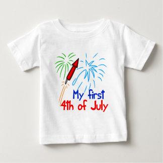 Lindo el 4 de julio playera de bebé