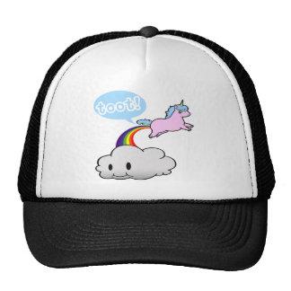 ¡Lindo! El unicornio Fart… ¡Toque de bocina! Gorras De Camionero