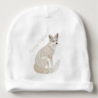 Lindo elegante retro ártico del Fox como Fox de A Gorrito Para Bebe