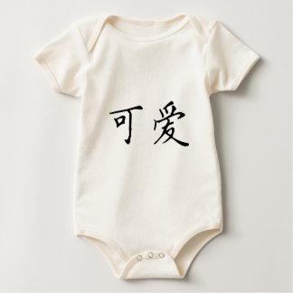Lindo en chino mameluco de bebé