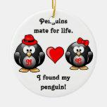 Lindo encontré a mi compañero del pingüino para el ornamentos de reyes