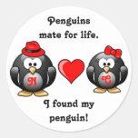 Lindo encontré a mi compañero del pingüino para el etiqueta