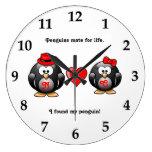 Lindo encontré a mi compañero del pingüino para el relojes de pared