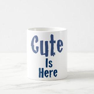 Lindo es aquí la taza de café
