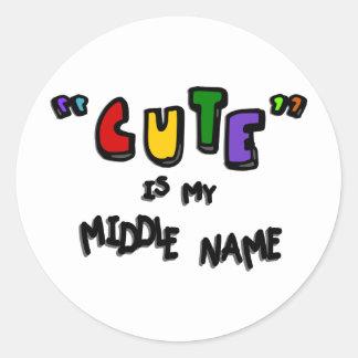 """""""Lindo"""" es mi nombre medio--Multicolor con las som Pegatinas"""
