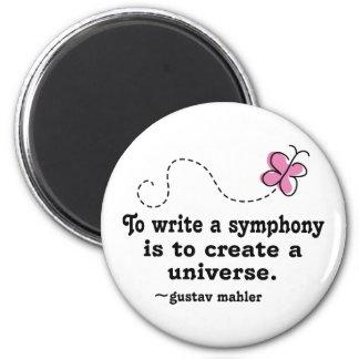 Lindo escriba una cita de Mahler de la sinfonía Imán Redondo 5 Cm