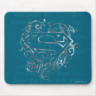 Lindo estupendo de la mosca estupenda de Supergirl Mousepad