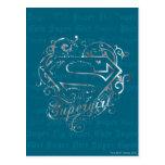 Lindo estupendo de la mosca estupenda de Supergirl Tarjetas Postales