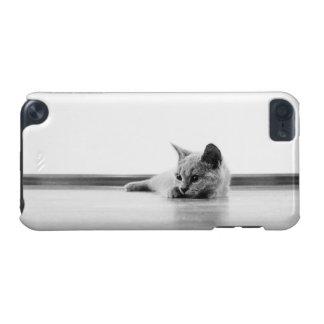 Lindo estupendo del gato del gatito del doblez del funda para iPod touch 5G