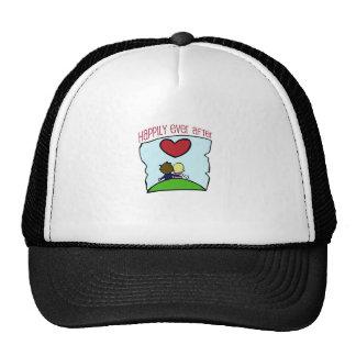 """Lindo, """"feliz nunca después"""" de casar diseño gorras de camionero"""