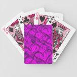 Lindo, femenino, remolina el crujido de los corazo cartas de juego