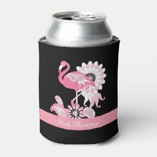 Lindo fresco del flamenco rosado caprichoso de enfriador de latas