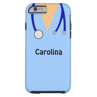Lindo friega la caja médica personalizada del funda para iPhone 6 tough