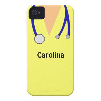 Lindo friega la caja personalizada de Blackberry d iPhone 4 Case-Mate Protector