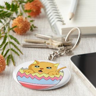 Lindo Gatito color Naranja Keychain