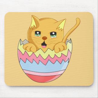 Lindo Gatito color Naranja Mouse Pad
