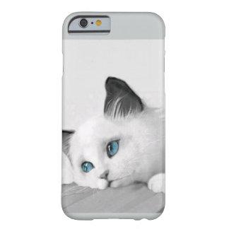 lindo, gato, caso del iPhone 6 Funda Para iPhone 6 Barely There