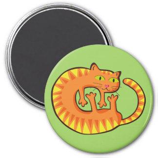 Lindo Gato, cat, kitten. 3 Inch Round Magnet