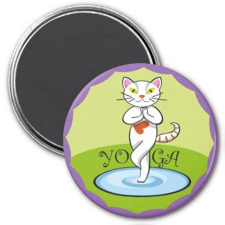 Lindo gato yoga imanes